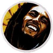 Bob Marley Rastafarian Round Beach Towel