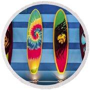 Bob Marley Surfing Display Round Beach Towel