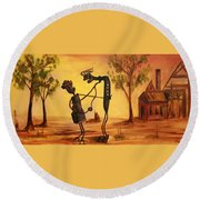 Bob 'n' Betty - Broken Hill Round Beach Towel