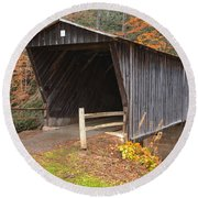 Bob White Covered Bridge Round Beach Towel