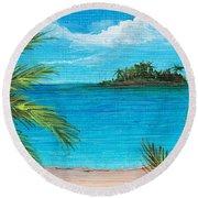 Boca Chica Beach Round Beach Towel