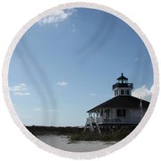 Boca Grande At Twiglight Round Beach Towel