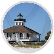 Boca Grande Light Round Beach Towel