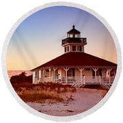 Boca Grande Lighthouse - Florida Round Beach Towel