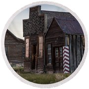 Bodie Bar And Barber Round Beach Towel