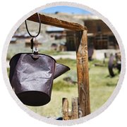 Bodie Ghost Town 2 - Old West Round Beach Towel