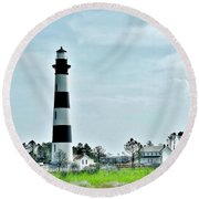 Bodie Island Lighthouse - Outer Banks North Carolina Round Beach Towel