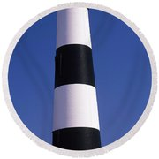 Bodie Island Lighthouse, Outer Banks Round Beach Towel