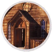 Bodie Methodist Church Round Beach Towel