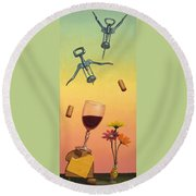 Body And Soul Round Beach Towel