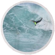 Body Surfer  Round Beach Towel