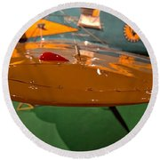 Boeing P26 Peashooter Wing Round Beach Towel