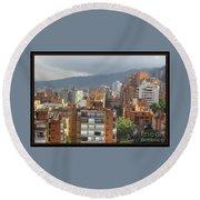 Bogota City View Round Beach Towel