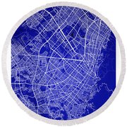 Bogota Street Map - Bogota Colombia Road Map Art On Colored Back Round Beach Towel