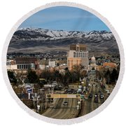Boise Idaho Round Beach Towel by Robert Bales