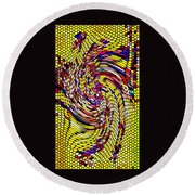 Bold And Colorful Phone Case Artwork Designs By Carole Spandau Cbs Art The Golden Dragon 114  Round Beach Towel