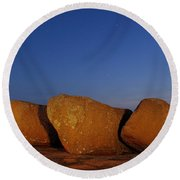 Bold Boulders Round Beach Towel