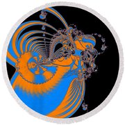 Bold Energy Abstract Digital Art Prints Round Beach Towel