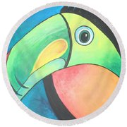 Bold Toucan Round Beach Towel