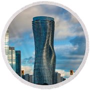 Bold Towers Round Beach Towel