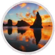 Boldly Bandon Round Beach Towel by Darren  White