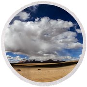 Bolivia Cloud Valley Round Beach Towel