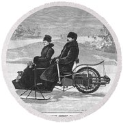 Bollee Carriage, 1898 Round Beach Towel