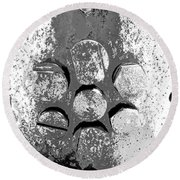 Bolted Silver Round Beach Towel