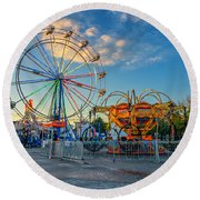 Bolton Fall Fair 4 Round Beach Towel