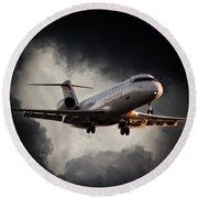 Bombardier Landing Round Beach Towel