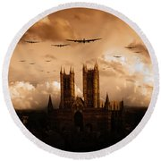 Bomber Country  Round Beach Towel