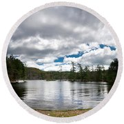 Bon Echo Lagoon Panorama Round Beach Towel by Cale Best