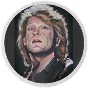 Bon Jovi Round Beach Towel