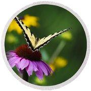 Bon Voyage Butterfly Round Beach Towel