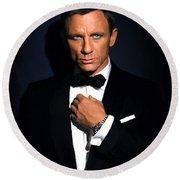 Bond - Portrait Round Beach Towel