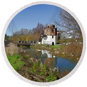 Bonds Mill Area Stroudwater Canal Round Beach Towel