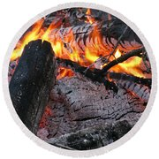 Bonfire Round Beach Towel