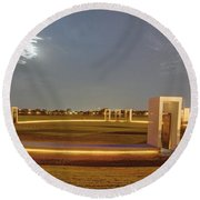 Bonfire Memorial Round Beach Towel