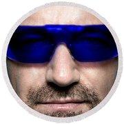 Bono Of U2 Round Beach Towel