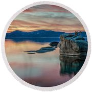 Bonsai Sunset 2 Round Beach Towel