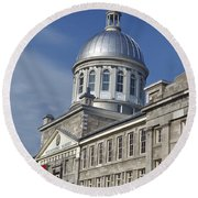 Bonsecours Market Montreal Round Beach Towel