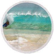 Boogie Board Surfing Round Beach Towel