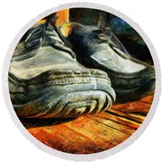 Boogie Shoes - Walking Story - Drawing Round Beach Towel