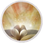 Book Love Round Beach Towel by Les Cunliffe