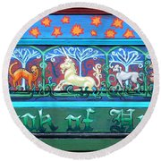 Book Of Hours Round Beach Towel