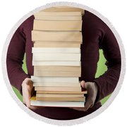 Books Round Beach Towel