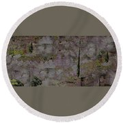 Blooming  Almonds At Night Round Beach Towel