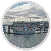 Boothbay Harbor 0231 Round Beach Towel