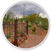 Boothill Cemetary Image Round Beach Towel