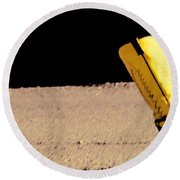 Boots On The Ground Round Beach Towel